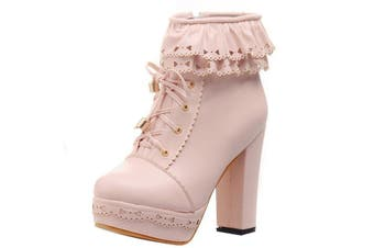 Ruffled Lace Lolita Booties