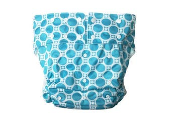 Blue Bubble Adult Diaper
