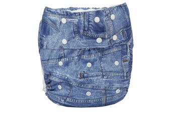 Denim Adult Diaper - std