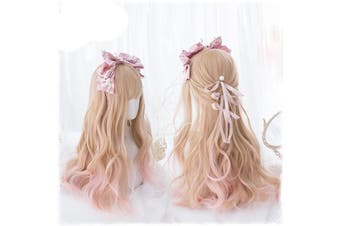 Strawberry Blond Long Wig - std