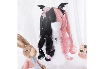 Black Pink Lolita Wig - std