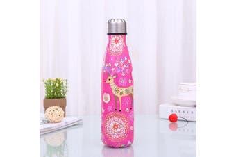 500ml Kawaii Raindeer Insulated Stainless Steel Water Bottle - 500ml