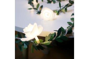 10/20/40leds Rose Flower Led Fairy String Lights Battery Powered DDLG Littles - 3M 20leds