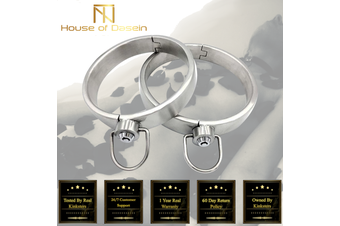 Solid Stainless Steel Lockable Slave Collar BDSM Bondage Restraints c101