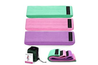 3/set Fabric Resistance Bands Light Tension Booty Bands Women's Home Fitness Training F01