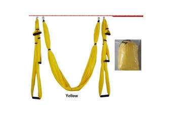 Anti-gravity Aerial Yoga Hammock Hanging Belt Swing Trapeze Home Gym Fitness Exercises