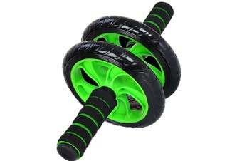 Green Abdominal Wheel Ab Roller With Mat For Exercise Fitness Gym Equipment Accessory AU STOCK