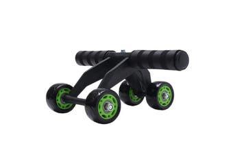 4 Wheel Ab Roller Abdominal Power Wheel Home Gym Fitness Exercise Equipment