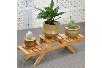 Bamboo Plant Flower Shelf Stand Indoor or Outdoor Pot Plant Rack Holder Home Decor