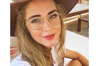 Blue Light Computer Glasses Anti-Glare Eyeglasses Frame Women - Gold