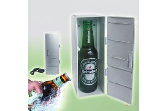 Portable Novelty Mini Fridge USB Rechargeable Drinks Beer Cooler *EO