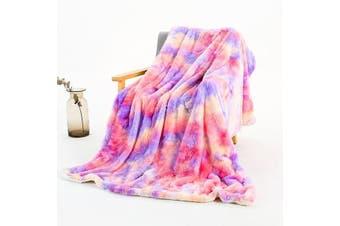 Colourful Super Soft Faux Fur Plush Blanket Winter Warmers