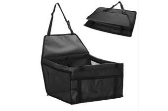 Black Pet Dog Cat Waterproof Carrier Bag Car Seat Pad 45x30x25cm