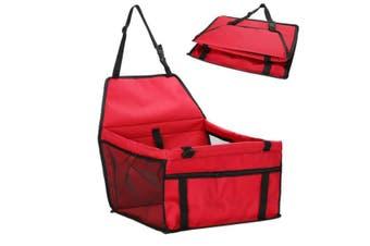 Red Pet Dog Cat Waterproof Carrier Bag Car Seat Pad 45x30x25cm