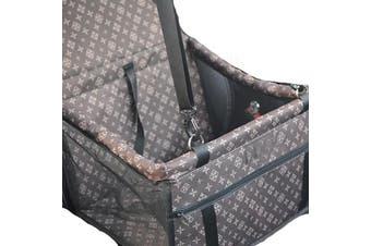Coffee Pet Dog Cat Waterproof Carrier Bag Car Seat Pad 45x30x25cm