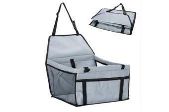 Grey Pet Dog Cat Waterproof Carrier Bag Car Seat Pad 45x30x25cm