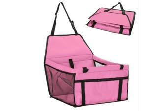 Pink Pet Dog Cat Waterproof Carrier Bag Car Seat Pad 45x30x25cm