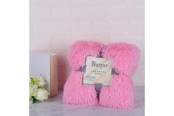 160cm x 130cm Soft Fluffy Shaggy Warm Blanket Bedspread Throw