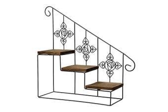 Modern Decorative Iron Plant Rack Stand Wall Mounted Desktop Plant Shelf NE1
