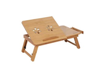 Portable Folding Bamboo Laptop Table Computer Stand Desk Home Office O01