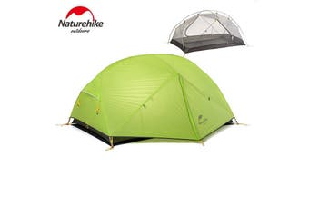 Green Naturehike Dome Camping Tent 2 Person Silicone Fabric Double Layers Rainproof