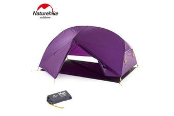 Purple Naturehike 2 Person Dome Camping Double Layer Tent