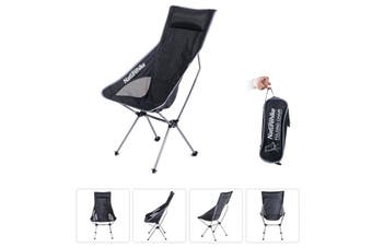 Black and Silver Naturehike Portable Ultralight Collapsible Moon Leisure Camping Chair