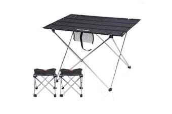 Black NatureHike Outdoor Camping Hiking Ultralight Folding Picnic Table - Small