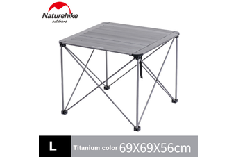 Small or Large Grey NatureHike Camping Picnic Outdoor Folding Table - Large