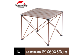 Champagne NatureHike Camping Hiking Picnic Aluminium Outdoor Folding Table - Large