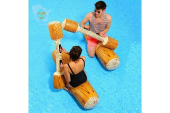 Inflatable Log Raft Water Battle Jousting Set Inflatable Pool Toys