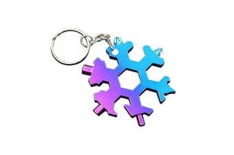 6/8 heads Snowflake Multi-Functional Keychain Tools - 6 heads