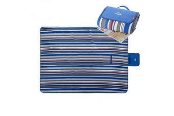 Naturehike Blue Striped Foldable Portable Picnic Rug Camping Mat