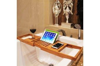 Luxury Bamboo Bath Shelf Bathtub Tray Caddy Bathroom Accessories