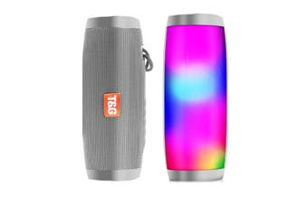 Portable Bluetooth Column Wireless Speaker FM Radio with LED Light