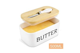 Nordic Ceramic Butter Dish with Lid and Butter Knife