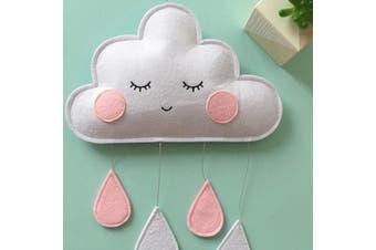 Nordic Kawaii Felt Cloud Raindrop Pendant Wall Hanging Decoration