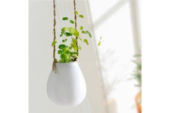 White Ceramic Mini Hanging Planter Boho Home Decor