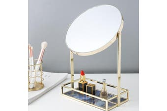 Desktop Dresser Mirror Portable Makeup Mirror Cosmetics Storage