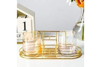 Gold Bathroom Set Elegant Practical Bathroom Storage Toothbrush Holder