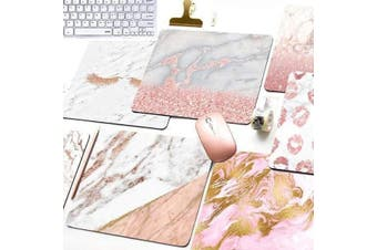 Marble Mouse Pad Home Office Computer Accessories - Pink Marble