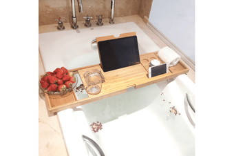 Bamboo Bathtub Tray Home Luxury Relaxation Self-Care Bathroom Accessories