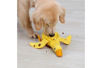 Interactive Treat Dispensing Duck Dog Toy