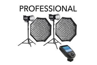 Godox Professional 800W (2X QT400IIM) Studio Flash Lighting Kit - Nikon