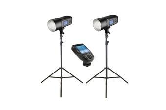 2x Godox AD600Pro Witstro Studio Flash Strobe Light & Stand Kit with XPro Trigger - Canon