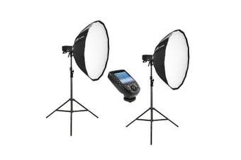 Godox 2 X AD400Pro Witstro Portable Strobe Kit with Strobes, Stands, Softboxes and Trigger - Canon