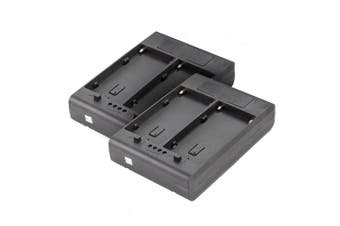 2 x Sony NP-F Series to V-Lock Battery Adapter for LED Video Lights