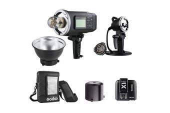Godox AD600BM Witstro 2.4GHz Manual Studio Flash Strobe Complete Kit (Bowens) - Nikon / 2.6m Heavy Duty Light Stand