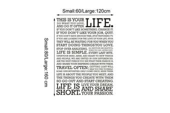 """This Is Your LIFE"" Removable Wall Stickers"
