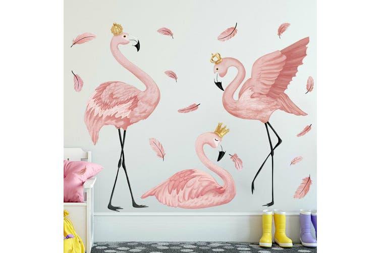 Flamingo Kids Wall Art Stickers Girls Room Decor Art Mural Removable Vinyl Decal Matt Blatt